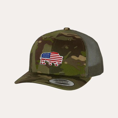 Last Stand American Bison / Multicam Tropic/ Green / Curved Bill