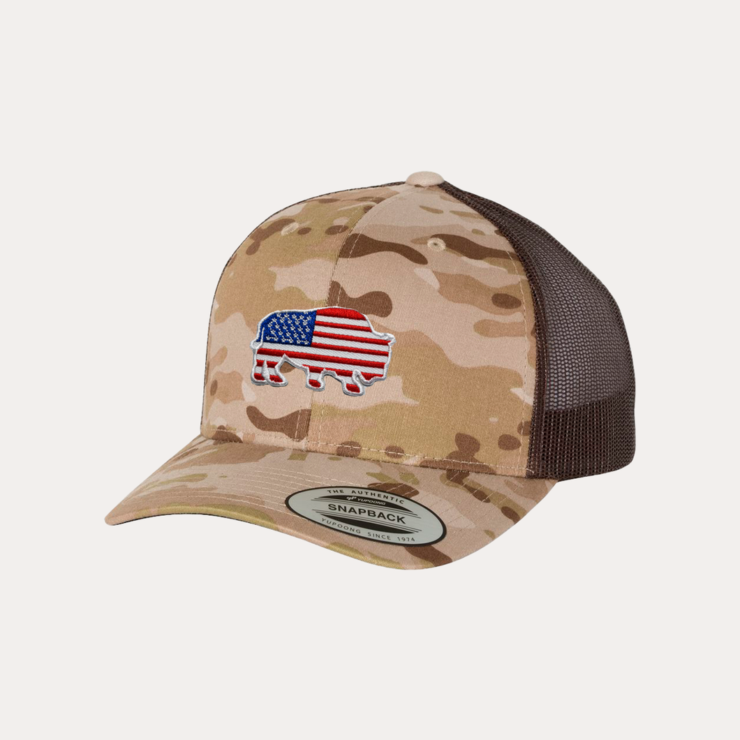 Last Stand American Bison / Multicam Arid/ Brown / Curved Bill
