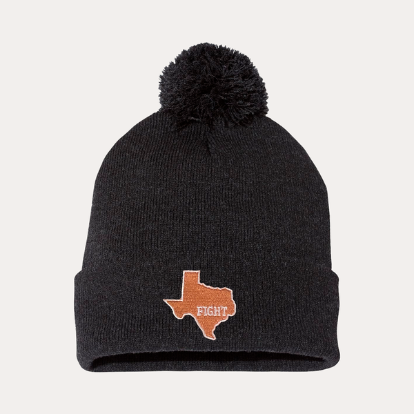 University of Texas / State of Texas / Pom Beanie / Charcoal