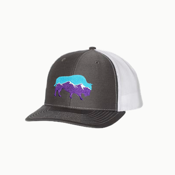 Last Stand Mountain Bison / Charcoal - White  / Curved Bill