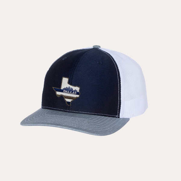 Dallas Texas / Navy - Grey - White / Curved Bill