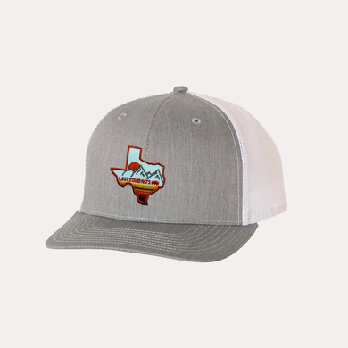 Last Stand Texas Mountains Orange Blue / Heather Grey - White / Curved Bill