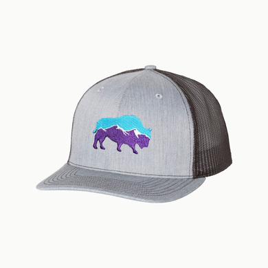 Last Stand Mountain Bison /  Heather Grey - Black / Curved Bill