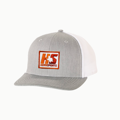 HornSports / Heather Grey - White / Curvedbill