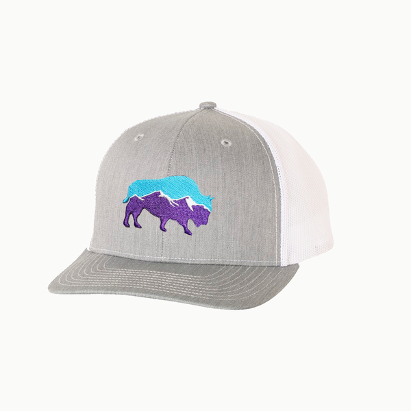 Last Stand Mountain Bison / Heather Grey - White / Curved Bill