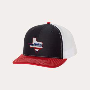 Houston Texas / Navy - Red - White / Curved Bill