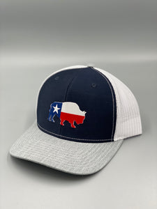 Last Stand / Texas Bison / Navy-Grey-White \ Hat
