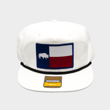 Load image into Gallery viewer, Last Stand Texas Flag  / White Rope Hat  / Flat Bill