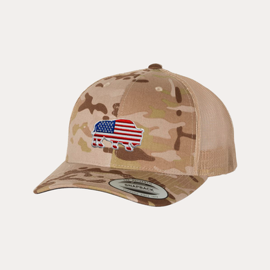 Last Stand American Bison / Multicam Arid/ Tan / Curved Bill