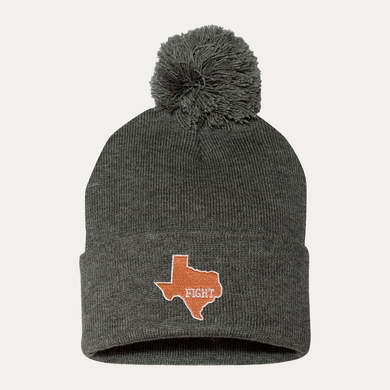 State of Texas / Pom Beanie / Grey