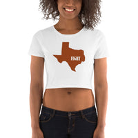 State of Texas / Fight / Women's Crop Tee