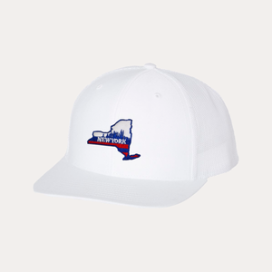 The Fan Series / New York Blue / White - White / Curved Bill