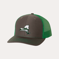 The Fan Series / New York / Charcoal - Green / Curved Bill