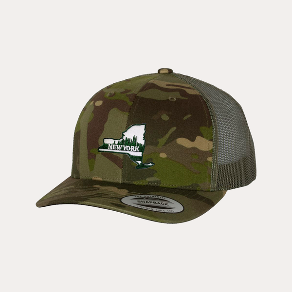 The Fan Series / New York / Camo Green / Curved Bill