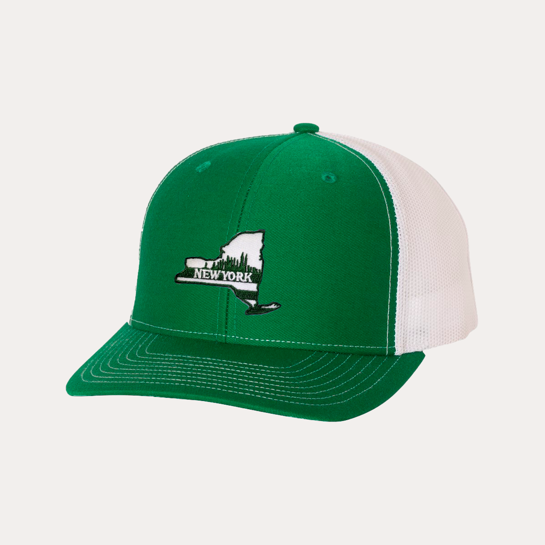 The Fan Series / New York / Green - White / Curved Bill