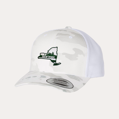 The Fan Series / New York  / White Camo / Curved Bill