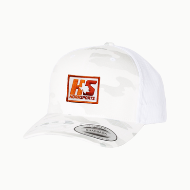HornSports / White Camo / Curved bill