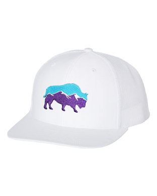 Last Stand Mountain Bison /  White - White  / Curved Bill