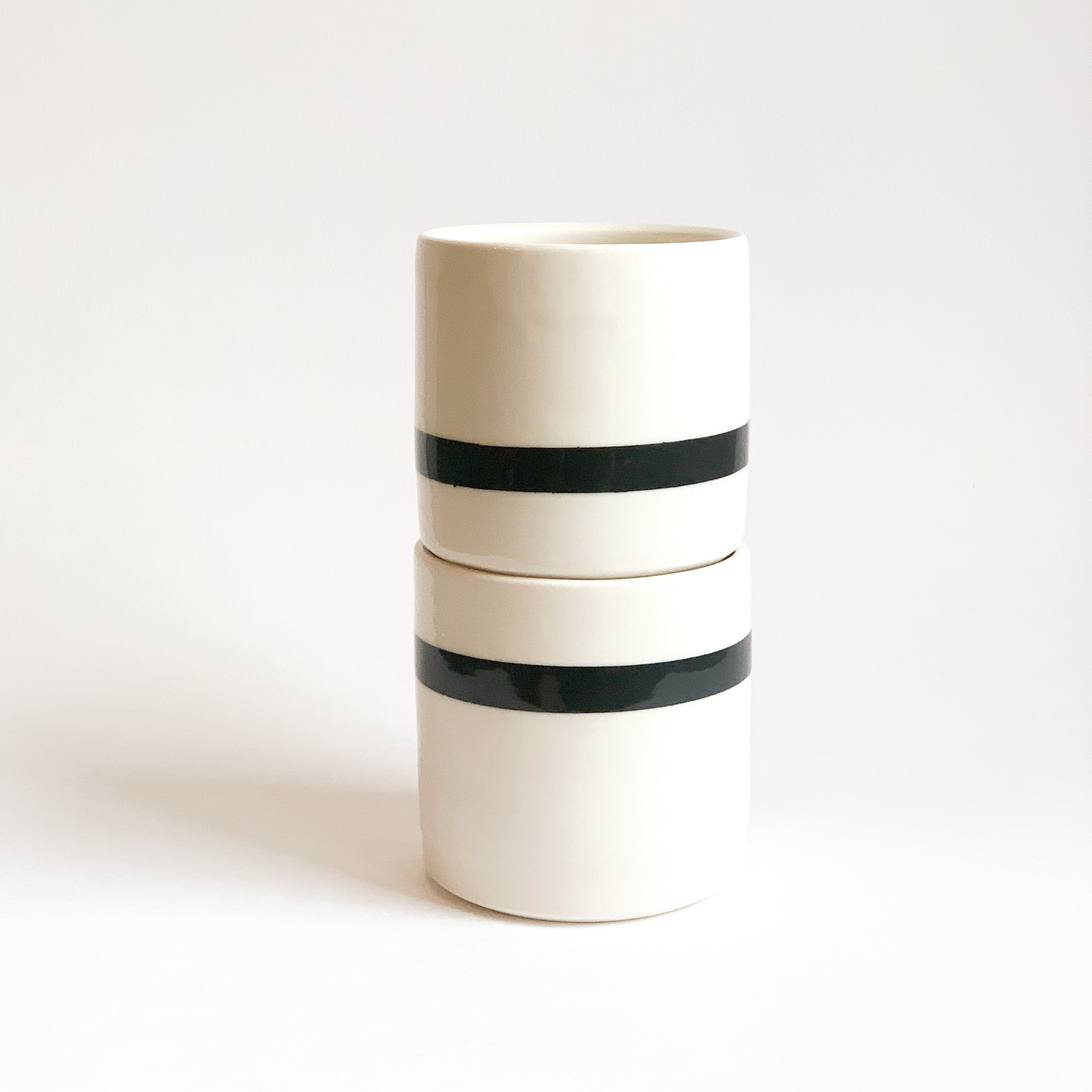 Set of Horizontal Striped Cups