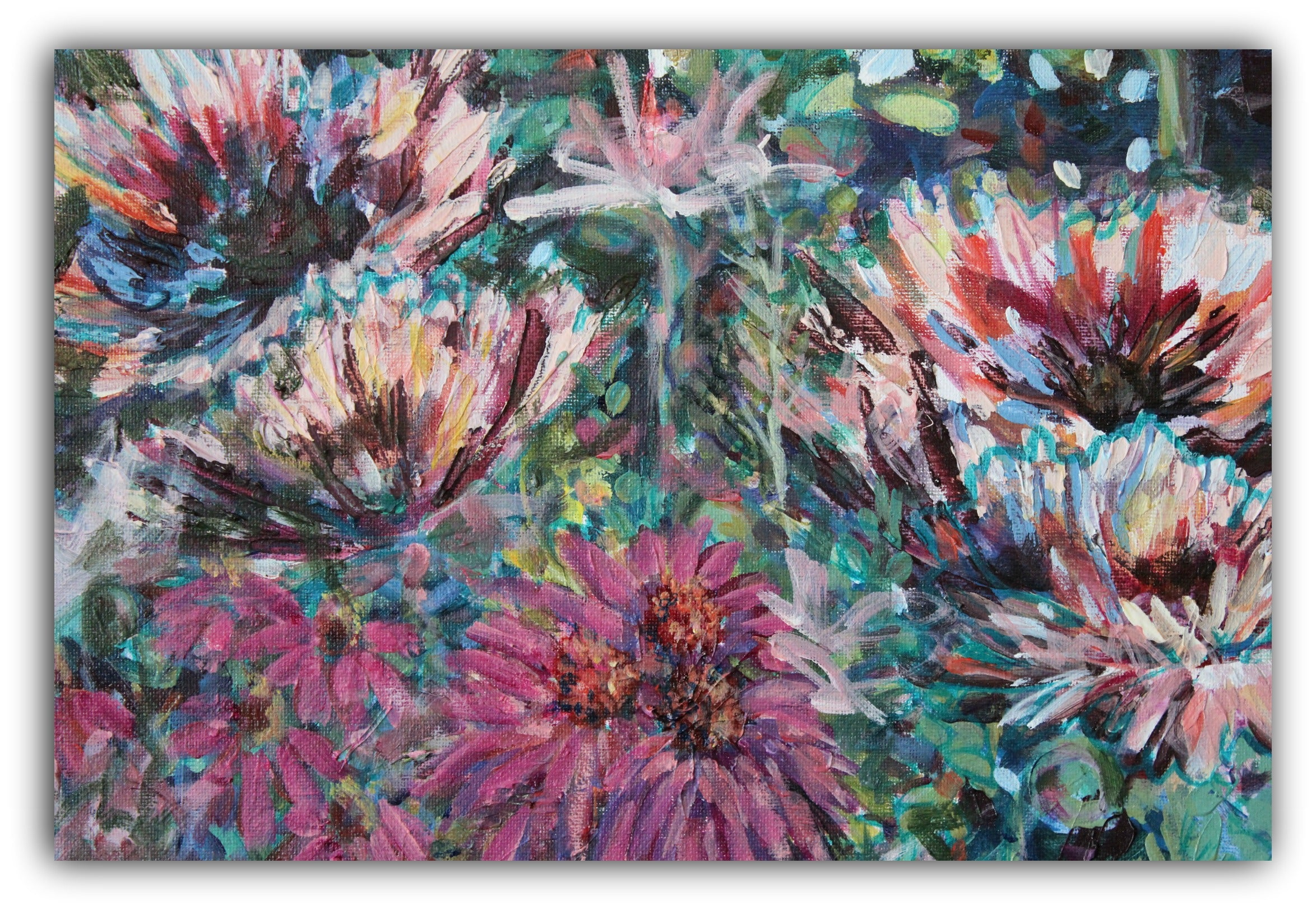 FLORAL GRAFFITI, Original Art by Rea Kelly.