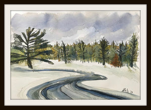 WINTER THAW IN THE CANYON, Original Art by Hilary Slater