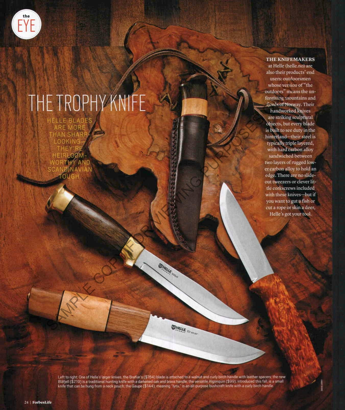 HELLE ALGONQUIN, Neck Knife by Laura Bombier / Survivor Man