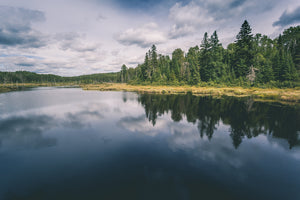 REFLECTIONS ON A NORTHERN RIVER, a Photograph by Joel Clements
