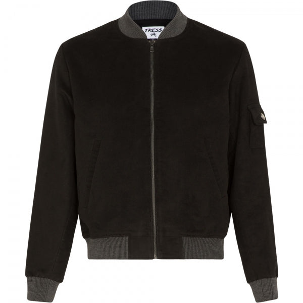 Black French Bomber Jacket