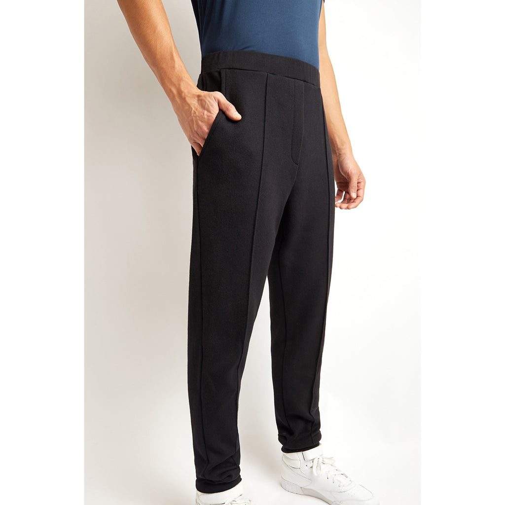 Black Cotton Cashmere Joggers
