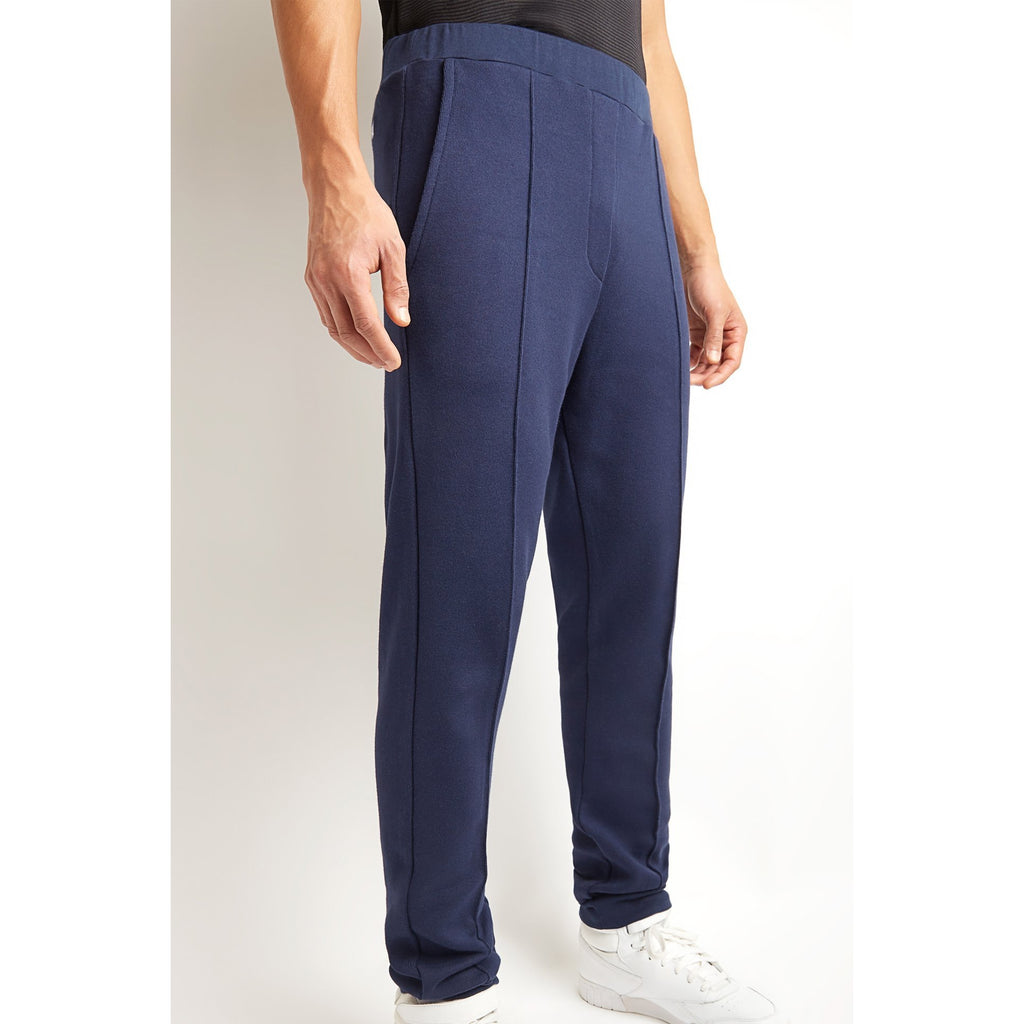 Blue Cotton Cashmere Joggers
