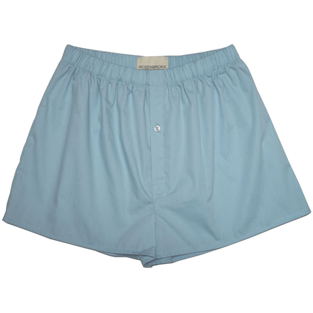 City Blue Organic Cotton Poplin Boxer