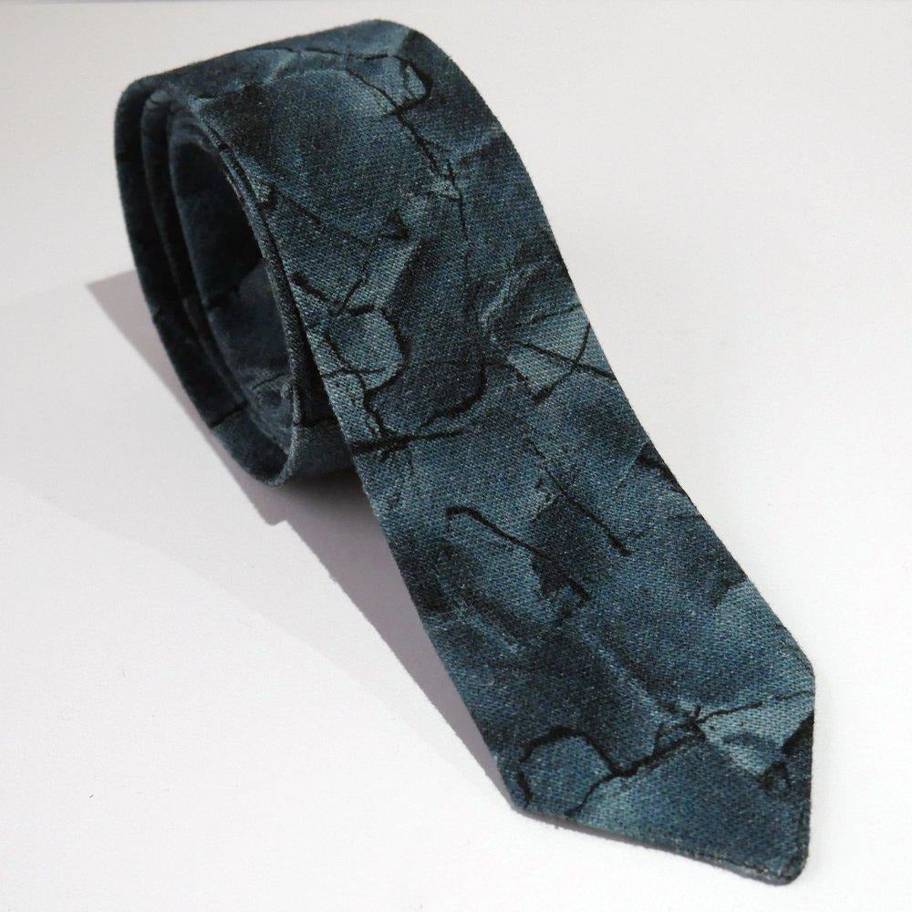 Blue Patched Tie