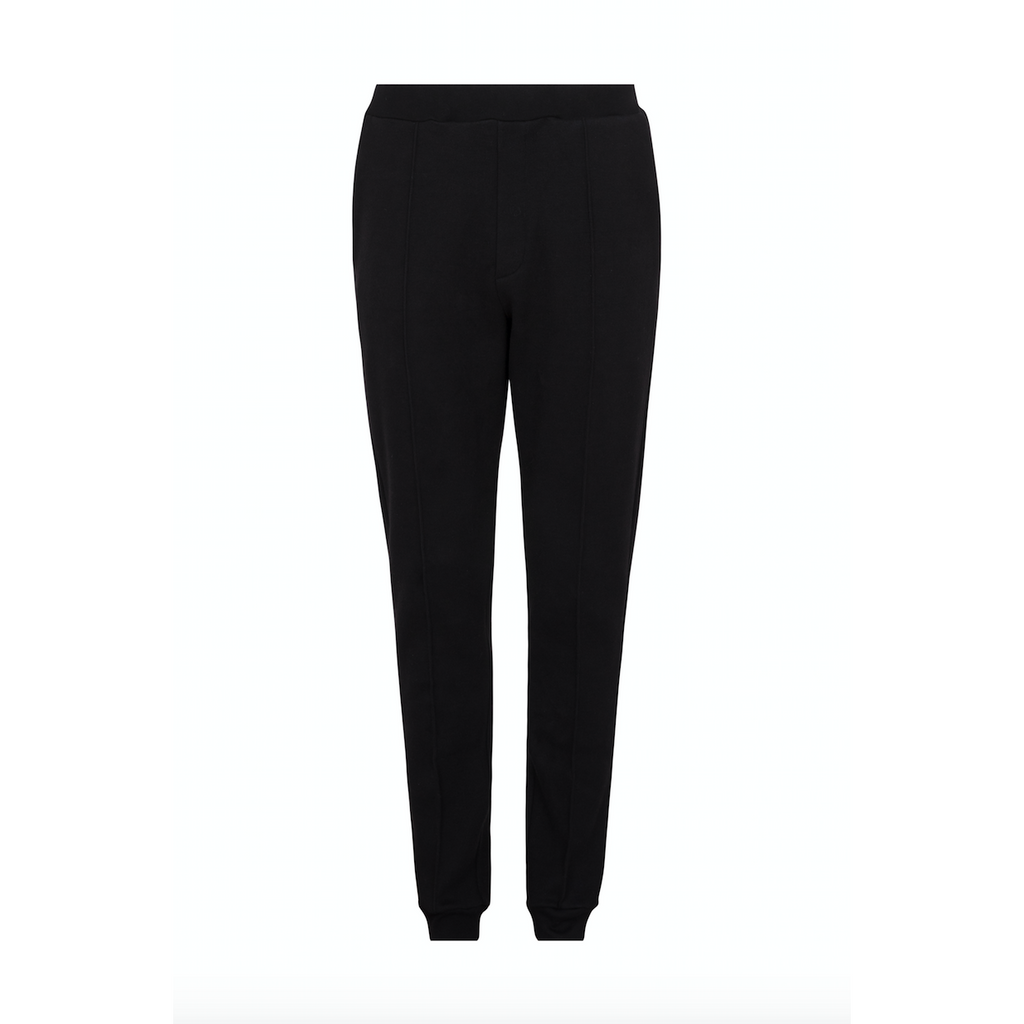 Black Cotton Cashmere Sweatpant