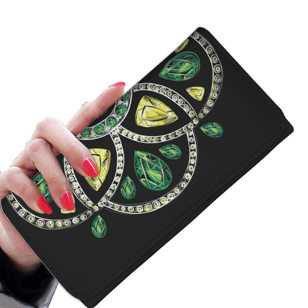 "Custom Designed Womens Wallet - ""Jewel"" - Kemsky Art"