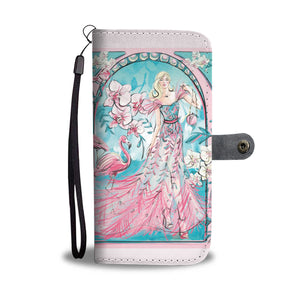 "Custom Designed Wallet Case - ""Flamingo"""