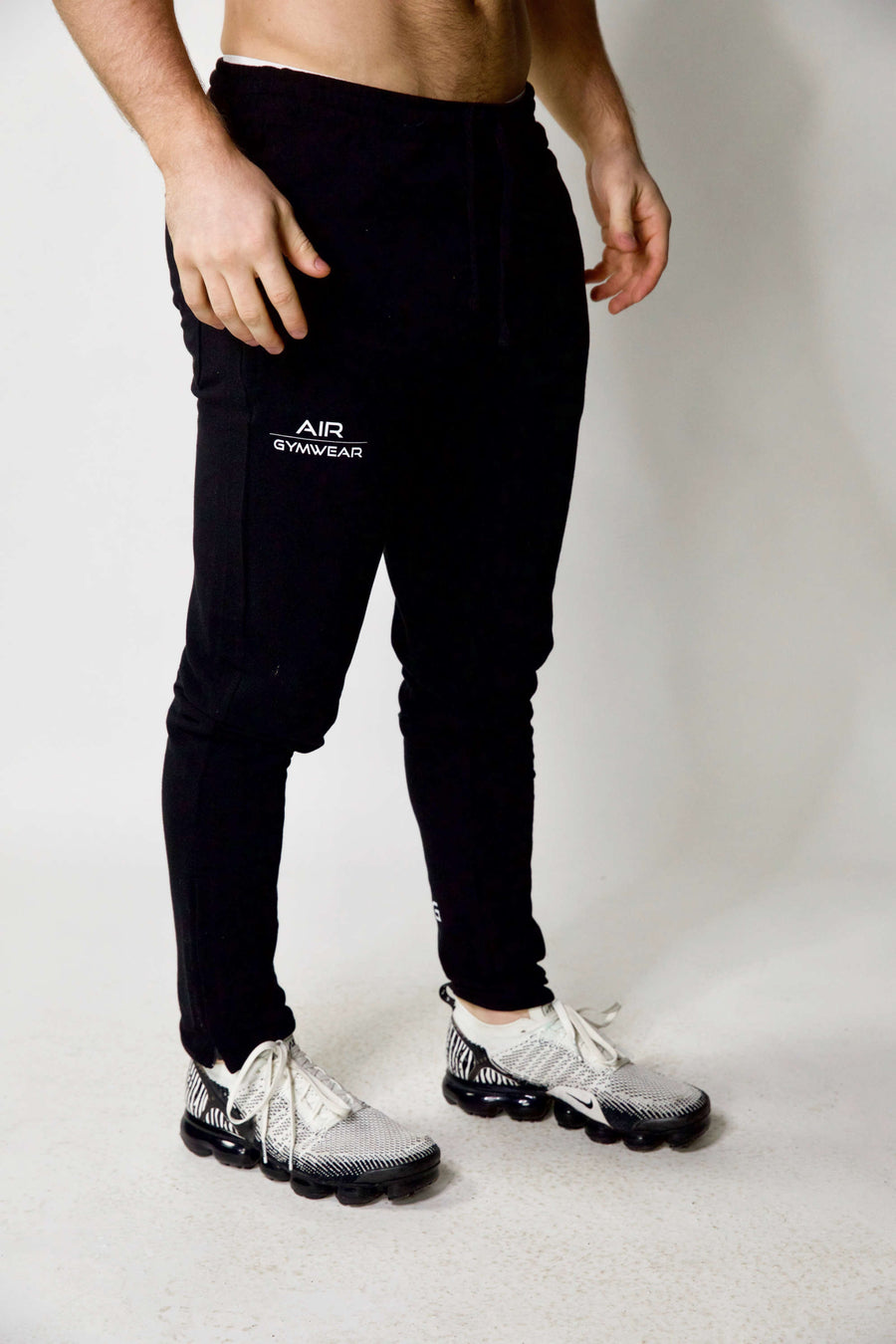 Mens Fitted Joggers Black