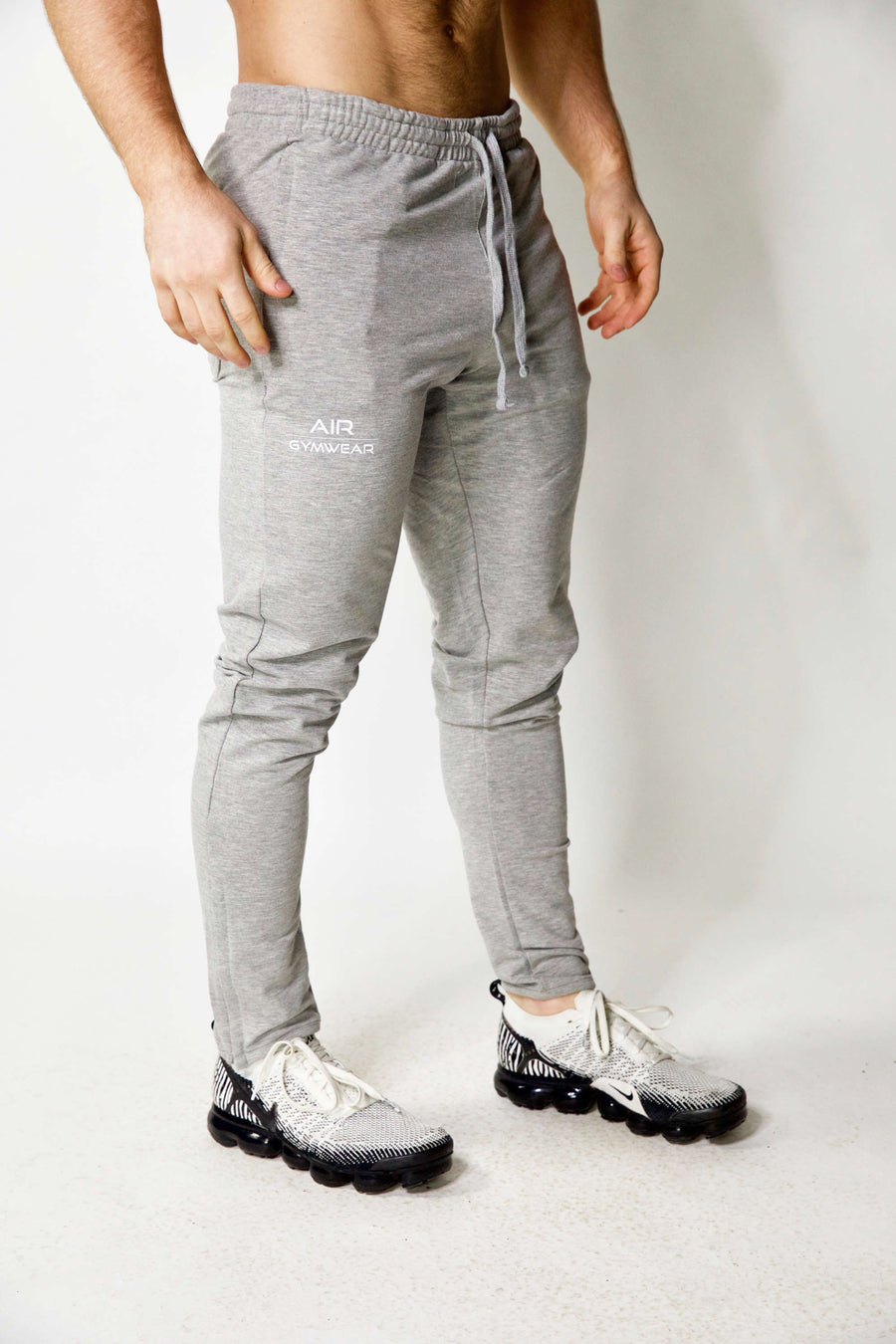 Mens Fitted Joggers Grey