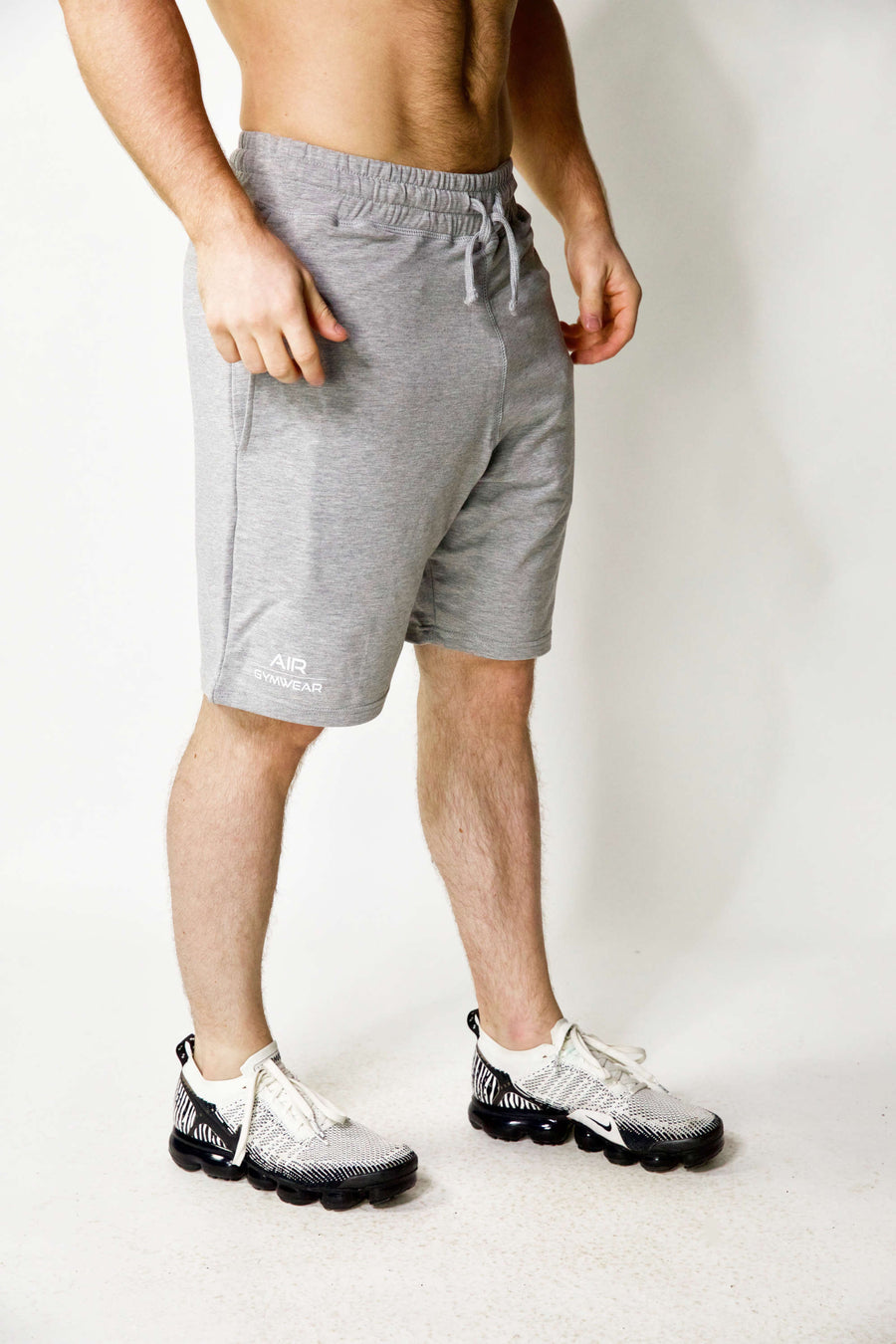 Mens Jogger Shorts Grey