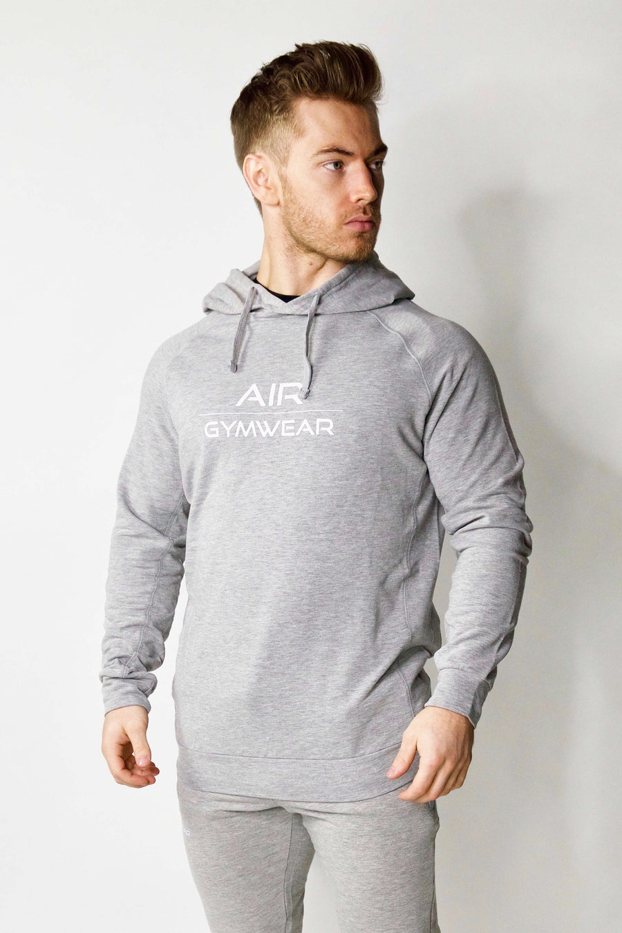 Fitted Hoodie - Grey