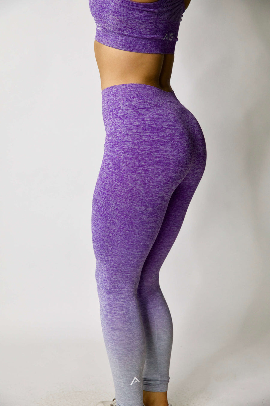 Seamless Leggings - Purple Fade
