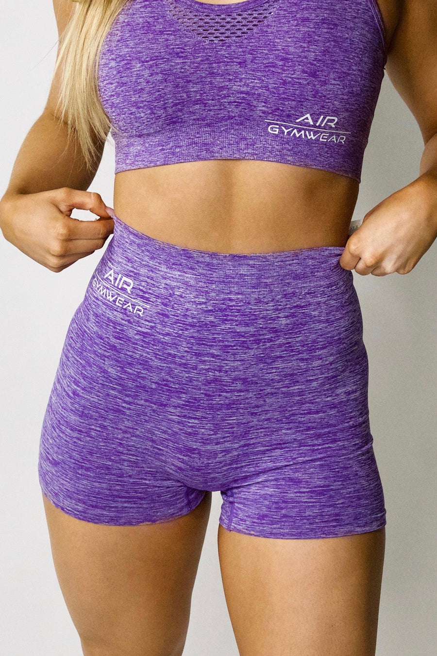 Seamless Bike Shorts - Purple