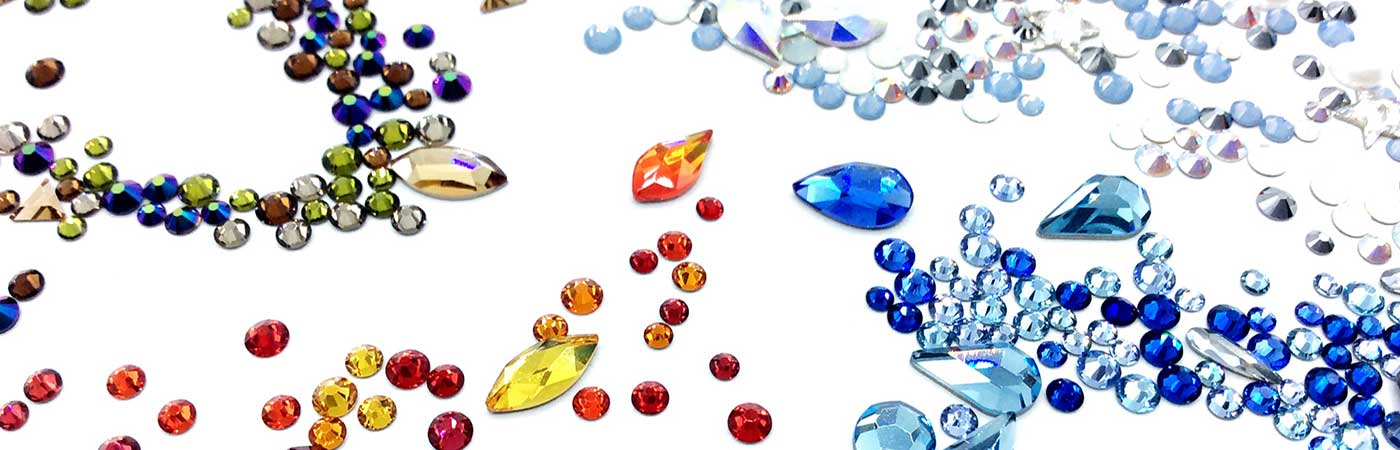 Swarovski flatback crystal elements mixes for embellishment and nail art by bluestreak crystals