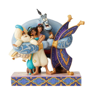 DISNEY TRADITIONS ALADDIN GROUP HUG