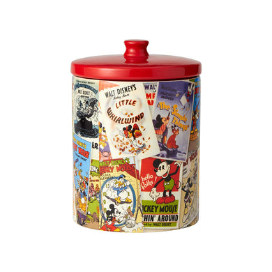 DISNEY CERAMICS COOKIE CANISTER MICKEY MOUSE COLLAGE