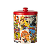 Load image into Gallery viewer, DISNEY CERAMICS COOKIE CANISTER MICKEY MOUSE COLLAGE