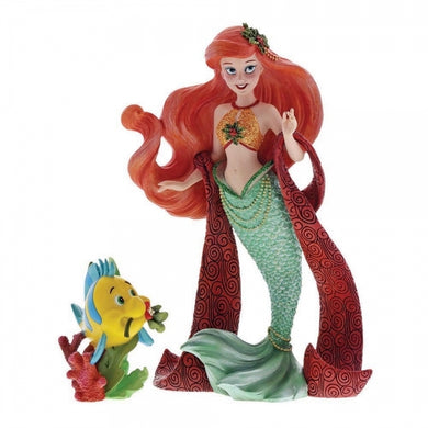 DISNEY SHOWCASE COUTURE DE FORCE HOLIDAY SERIES ARIEL WITH FLOUNDER