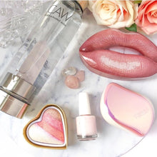 Load image into Gallery viewer, CRYSTAL STAINLESS STEAL WATERBOTTLE ROSE QUARTZ
