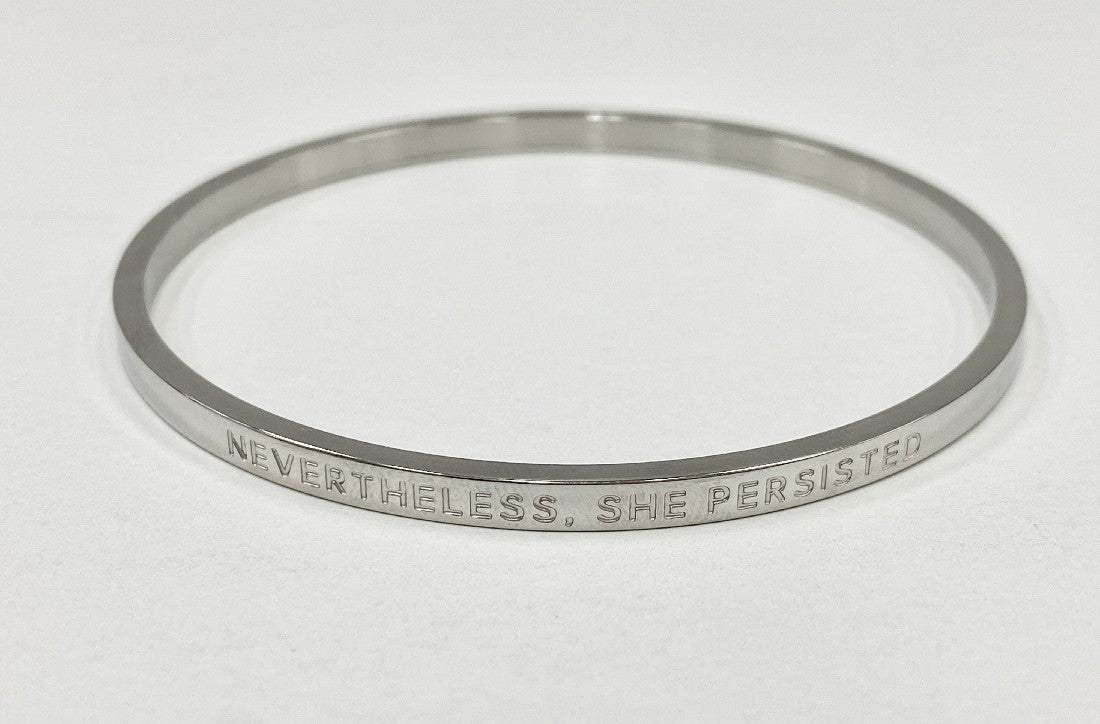 BE BANGLE NEVERTHELESS, SHE PERSISTED SILVER REGULAR