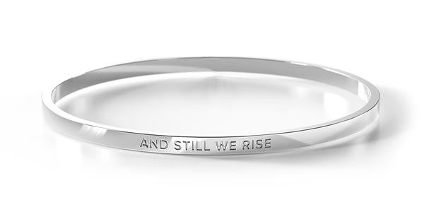 BE BANGLE AND STILL WE RISE SILVER LARGE