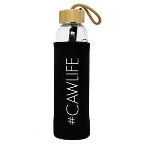 CAW LIFE CRYSTAL WATER BOTTLE BAMBOO DOME CLEAR QUARTZ